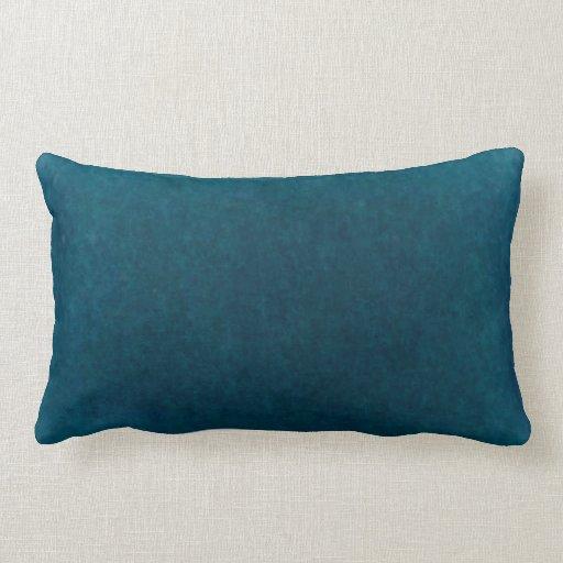 Deep Sea Watercolor - Dark Teal Blue and Aqua Pillow