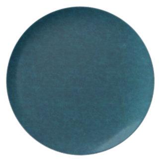 Deep Sea Watercolor - Dark Teal Blue and Aqua Plates