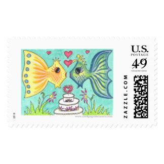 Deep Sea Wedding II Stamps