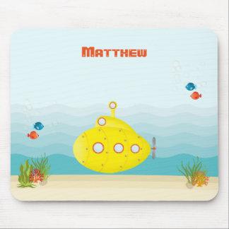 Deep Sea Yellow Submarine Mouse Pad