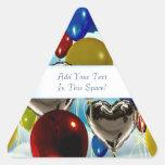 Deep Sky Balloons Customizable Triangular Stickers