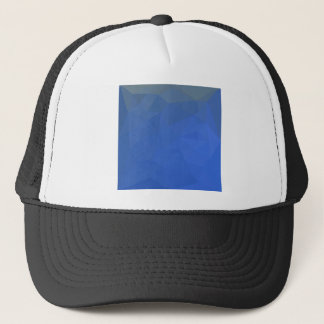 Deep Sky Blue Abstract Low Polygon Background Trucker Hat