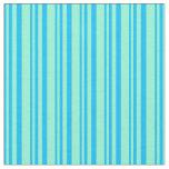 [ Thumbnail: Deep Sky Blue and Aquamarine Colored Pattern Fabric ]