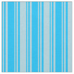 [ Thumbnail: Deep Sky Blue and Light Blue Colored Stripes Fabric ]