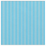 [ Thumbnail: Deep Sky Blue and Light Gray Colored Lines Fabric ]