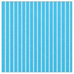 [ Thumbnail: Deep Sky Blue and Mint Cream Stripes Fabric ]