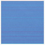 [ Thumbnail: Deep Sky Blue and Purple Lines/Stripes Pattern Fabric ]