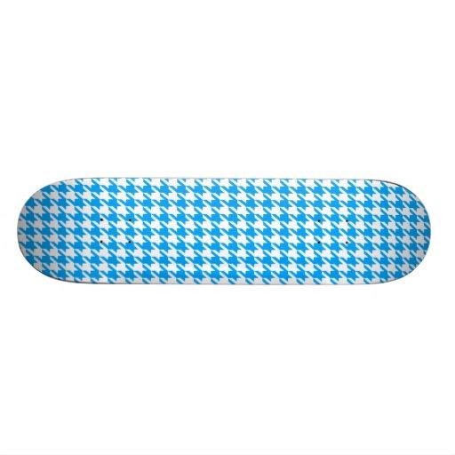 Deep Sky Blue Houndstooth Skateboard Decks