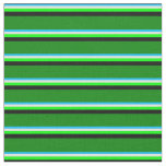 [ Thumbnail: Deep Sky Blue, Light Yellow, Lime, Black & Green Fabric ]