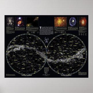 Deep Sky Star Chart Poster