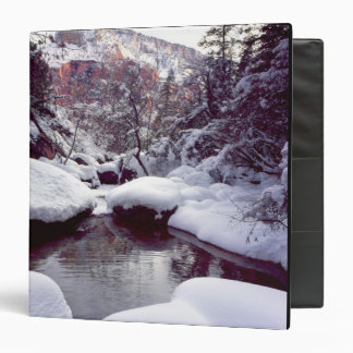 Deep snow at Middle Emerald Pools 3 Ring Binder