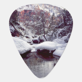 Deep snow at Middle Emerald Pools Guitar Pick