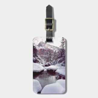 Deep snow at Middle Emerald Pools Luggage Tags