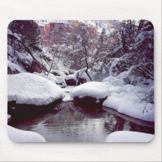 Deep snow at Middle Emerald Pools Mouse Pad