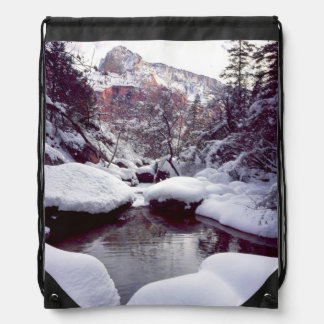 Deep snow at Middle Emerald Pools Backpacks
