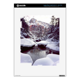 Deep snow at Middle Emerald Pools iPad 3 Decal