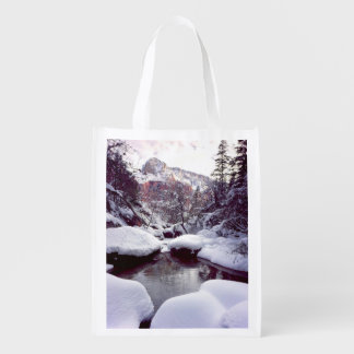Deep snow at Middle Emerald Pools Market Tote