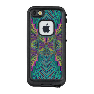 Deep Sound Hot Pink Abstract with Your Text LifeProof FRĒ iPhone SE/5/5s Case