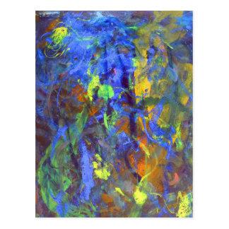 Deep Space Abstract Art Postcard