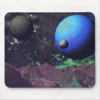 Deep Space Alien World Mouse Pad
