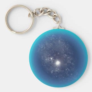 Deep Space Basic Round Button Keychain