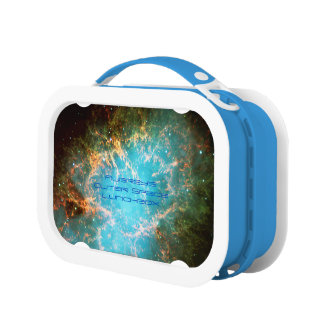 Deep space: Crab Nebula in Taurus astronomy image Lunch Box