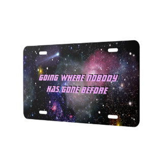Deep Space License Plate