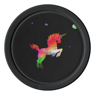 Deep Space Multi-hued Unicorn Chips Poker Chips