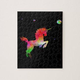 Deep Space Multi-hued Unicorn Jigsaw Puzzle