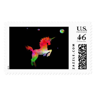 Deep Space Multi-hued Unicorn Stamps