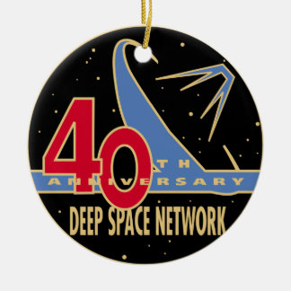 DEEP SPACE NETWORK 40th Anniversary Double-Sided Ceramic Round Christmas Ornament