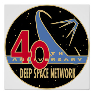 Deep Space Network 40th Anniversary Patch Poster