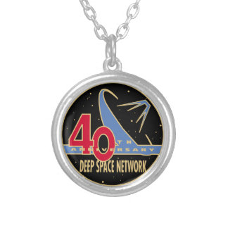 DEEP SPACE NETWORK 40th Anniversary Silver Plated Necklace