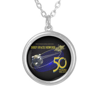 DEEP SPACE NETWORK 50th Anniversary Silver Plated Necklace