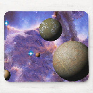 Deep Space Planets Mouse Pad