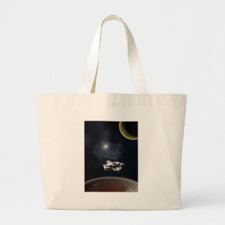 Deep Space - Science Fiction Battle Cruiser Tote Bag