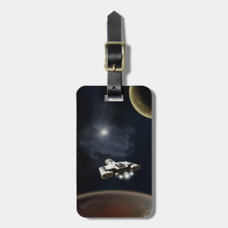 Deep Space - Science Fiction Battle Cruiser Tags For Luggage
