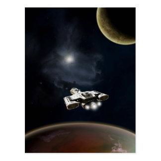 Deep Space - Science Fiction Battle Cruiser Postcard