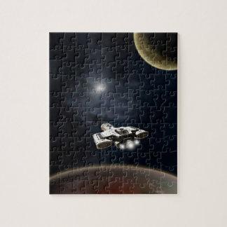 Deep Space - Science Fiction Battle Cruiser Puzzle