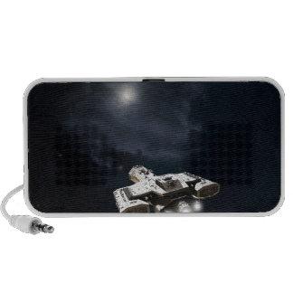 Deep Space - Science Fiction Battle Cruiser iPhone Speaker