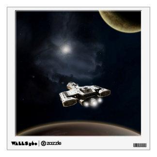 Deep Space - Science Fiction Battle Cruiser Wall Sticker