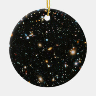 Deep Space Stars and Galaxies Ceramic Ornament