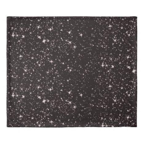 Deep space stars duvet cover
