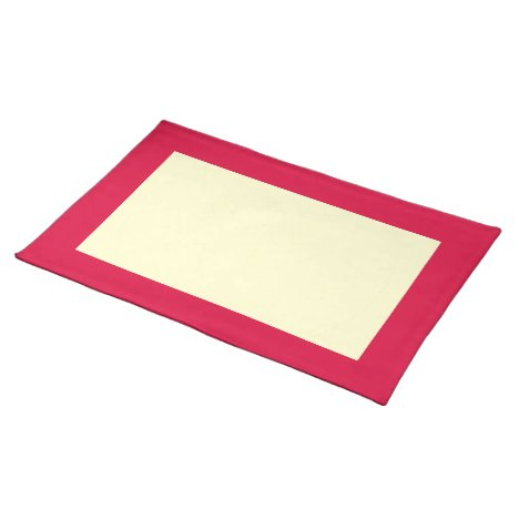 Deep Strawberry and Cream Placemat