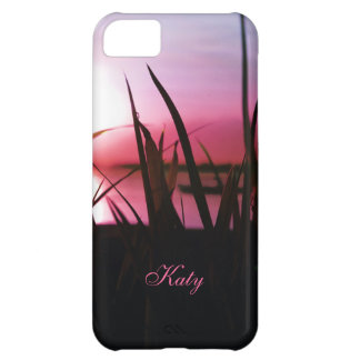Deep Sunset Southern Lake Personalized iPhone Case