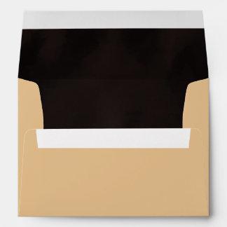 Deep Tan with Dark Texture Design Envelope