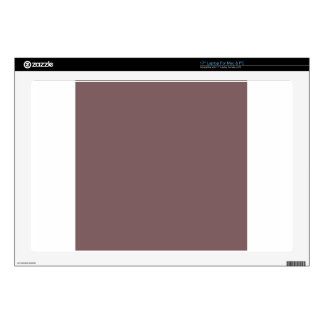 """Deep Taupe Brown Decal For 17"""" Laptop"""