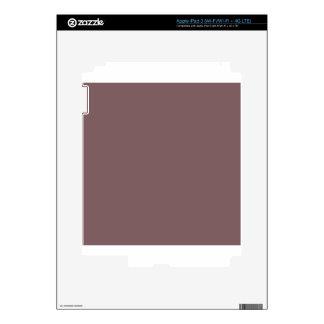 Deep Taupe Brown Skins For iPad 3