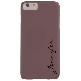 Deep taupe color background barely there iPhone 6 plus case ...