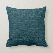Deep Teal Brick Pattern Lumbar and Throw Pillows